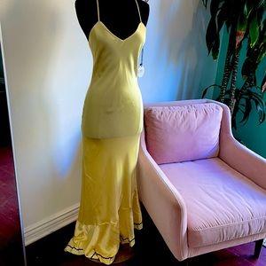 Marysia silk yellow maxi dress